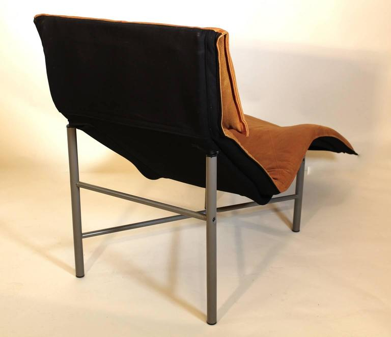 Chaise longue by tord bjorklund 1970 sweden at 1stdibs for Brown leather chaise longue