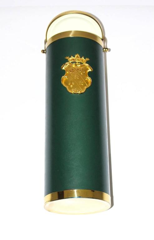 Mid-Century Modern Mid Century Modern Green and Brass Wine Cooler, circa  1950, Italy For Sale