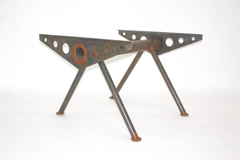 Modern Industry Style Steel Table in the Style of Jean Prouve, circa 1980 For Sale