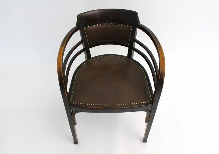 Jugendstil Vintage Beech Armchair by Josef Maria Olbrich, Vienna, circa 1902 For Sale 1