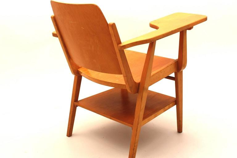 Mid-20th Century Midcentury Modern  Brown Vintage Beechwood Chair by Franz Schuster, 1959 For Sale