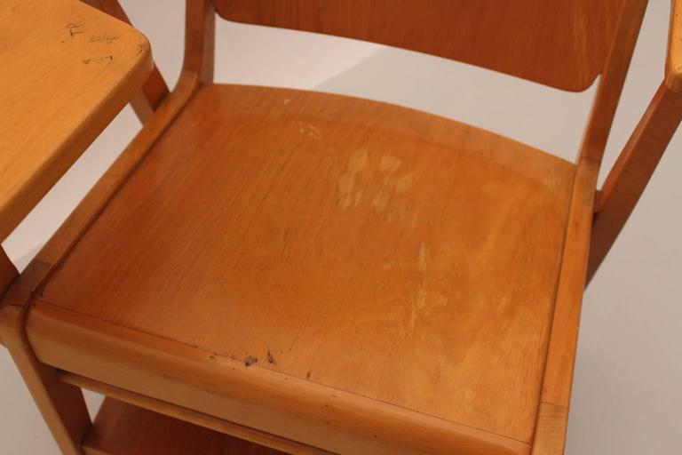 Midcentury Modern  Brown Vintage Beechwood Chair by Franz Schuster, 1959 For Sale 1