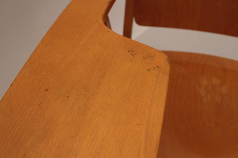 Midcentury Modern  Brown Vintage Beechwood Chair by Franz Schuster, 1959 For Sale 2