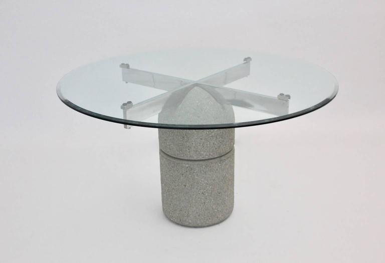 Mid-Century Modern Dining Room Table Paracarro by Giovanni Offredi, 1973, Italy For Sale