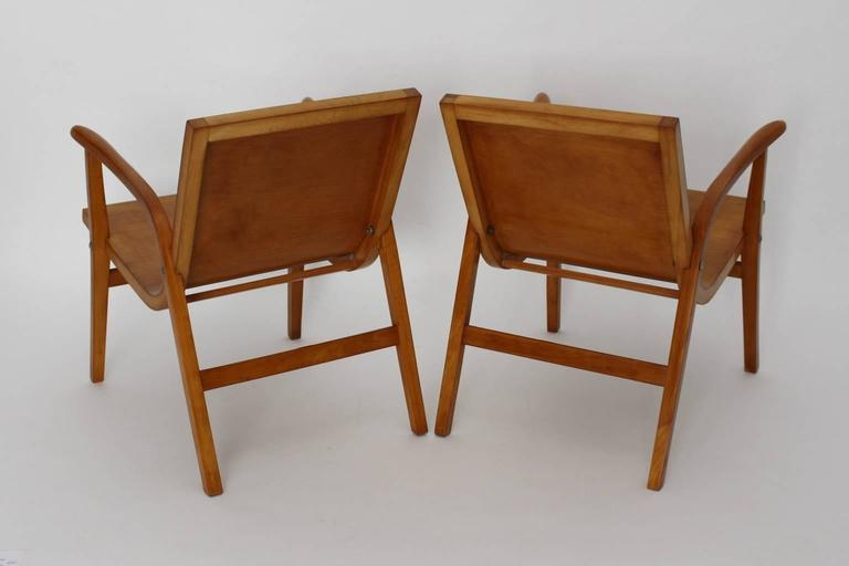 Mid-20th Century Mid-Century Modern Wooden Roland Rainer Lounge Chairs, 1952, Vienna For Sale