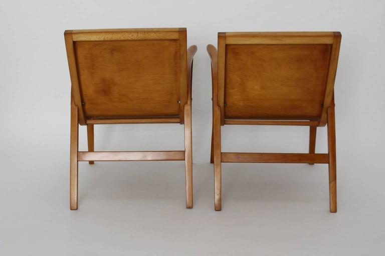 Mid-Century Modern Wooden Roland Rainer Lounge Chairs, 1952, Vienna For Sale 3