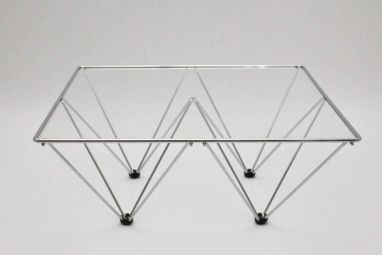 Chromed Square Coffee Table in the Style of Paolo Piva, circa 1980, Italy 4