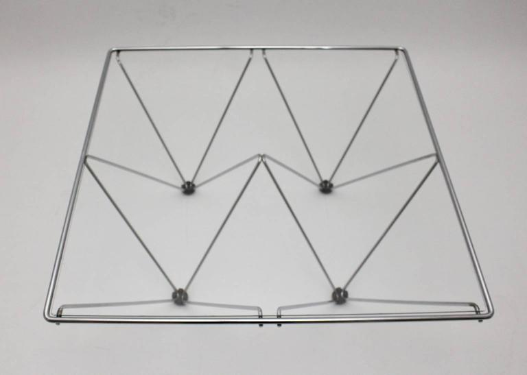 Chromed Square Coffee Table in the Style of Paolo Piva, circa 1980, Italy 6