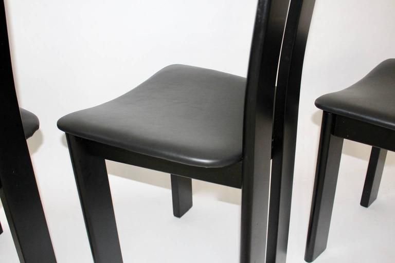Black Dining Room Chairs by Pietro Costantini, 1970, Italy Set of Four For Sale 3