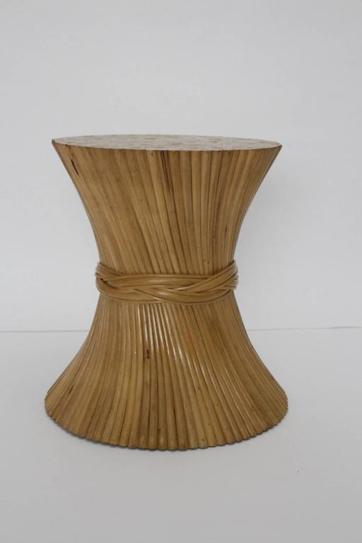 Bamboo Dining Table Sheaf of Wheat by Mc Guire, circa 1970 United States For Sale 1