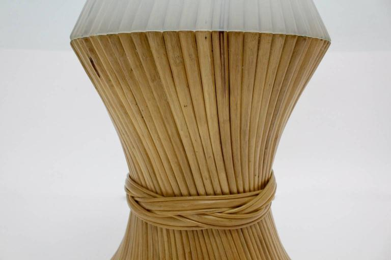 Bamboo Dining Table Sheaf of Wheat by Mc Guire, circa 1970 United States For Sale 3