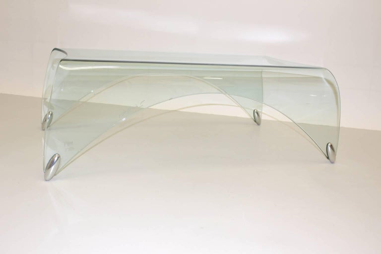 Modern Glass Vintage Coffee Table by Massimo Iosa Ghini, 20th Century For Sale