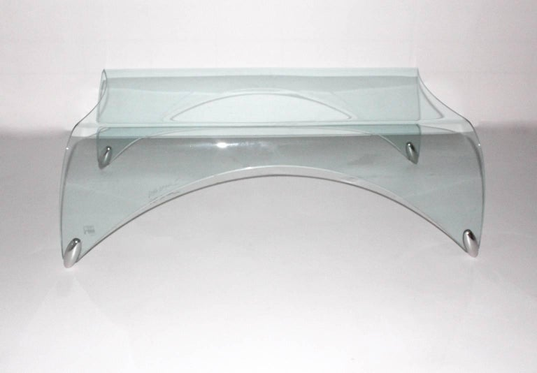 Glass Vintage Coffee Table by Massimo Iosa Ghini, 20th Century In Good Condition For Sale In Vienna, AT