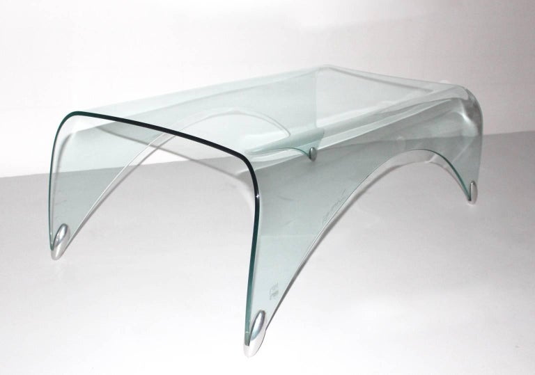 Glass Vintage Coffee Table by Massimo Iosa Ghini, 20th Century For Sale 1