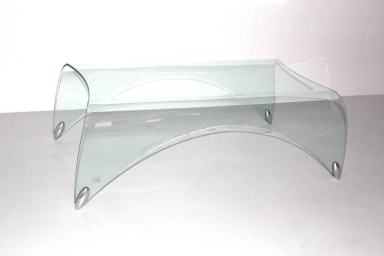Glass Vintage Coffee Table by Massimo Iosa Ghini, 20th Century For Sale 2