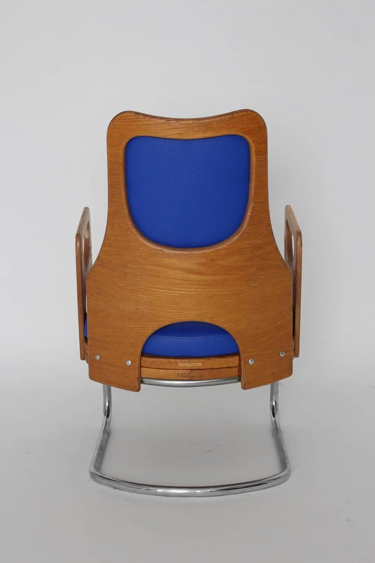 Blue Armchair Scandinavian Mid-Century Modern, 1960s In Good Condition For Sale In Vienna, AT