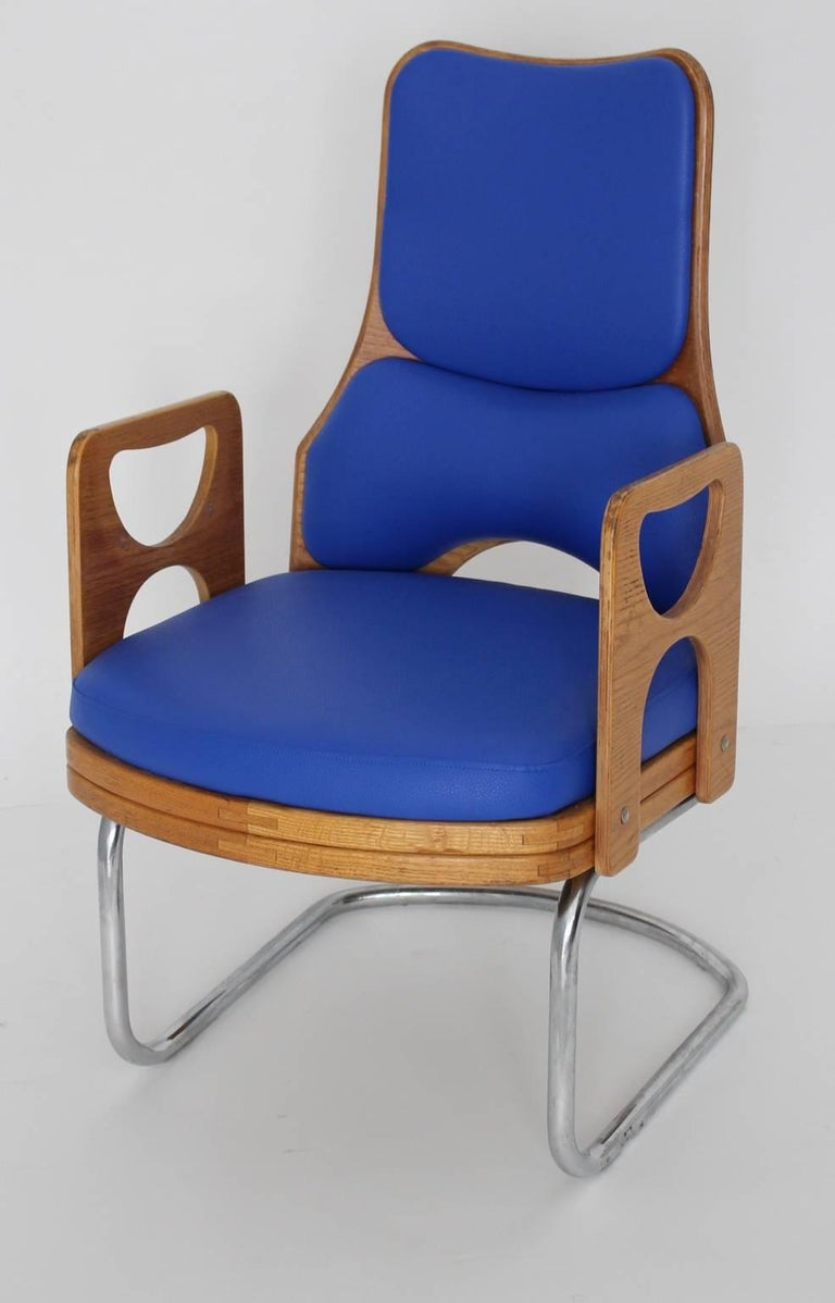 20th Century Blue Armchair Scandinavian Mid-Century Modern, 1960s For Sale