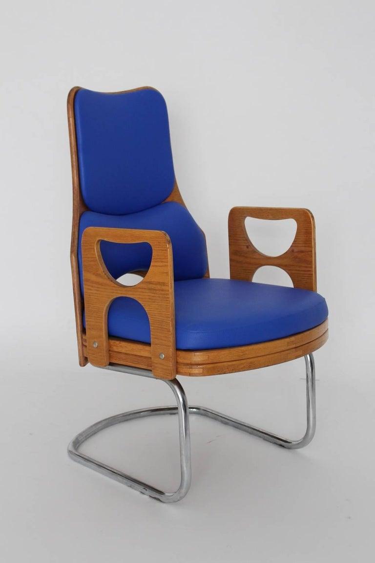 Blue Armchair Scandinavian Mid-Century Modern, 1960s For Sale 2