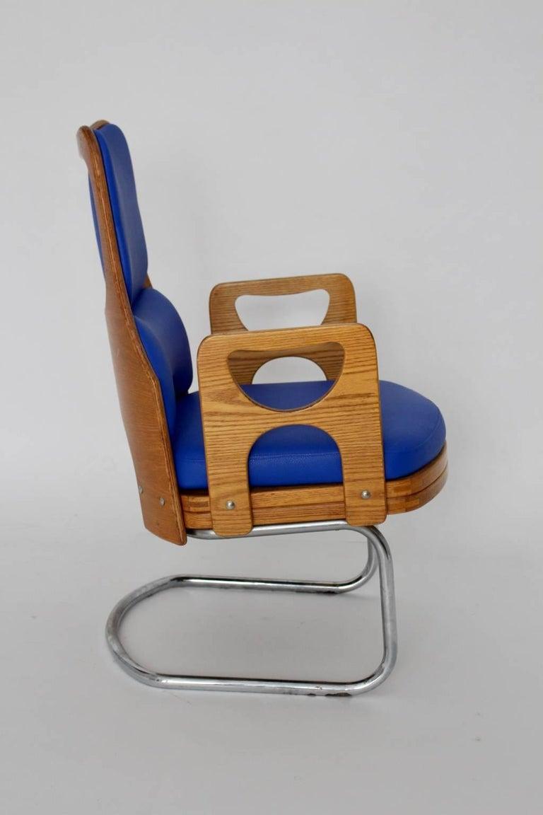Blue Armchair Scandinavian Mid-Century Modern, 1960s For Sale 3
