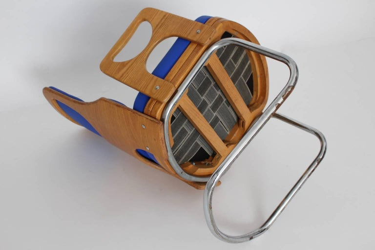 Blue Armchair Scandinavian Mid-Century Modern, 1960s For Sale 4
