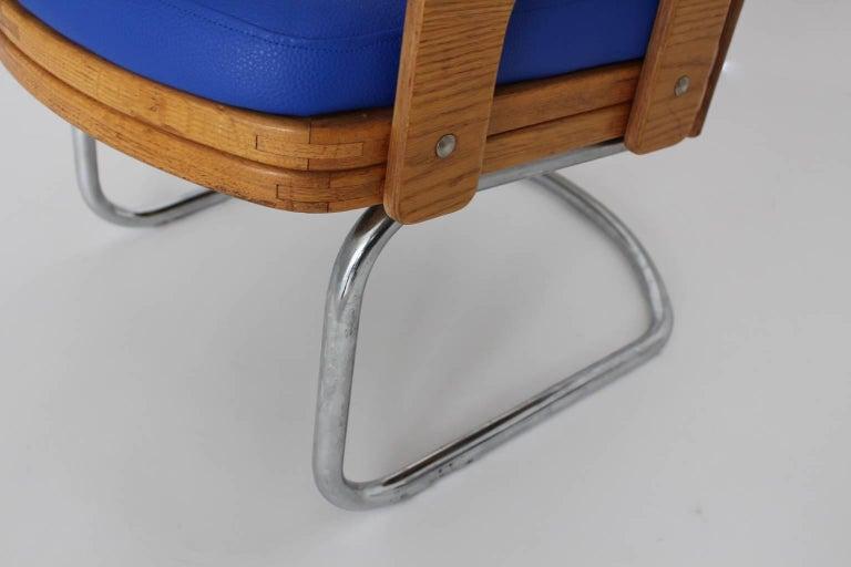 Blue Armchair Scandinavian Mid-Century Modern, 1960s For Sale 5