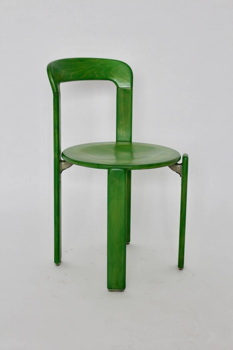 Green dining room chairs by bruno rey 1971 switzerland for sale at 1stdibs - Green dining room furniture ...