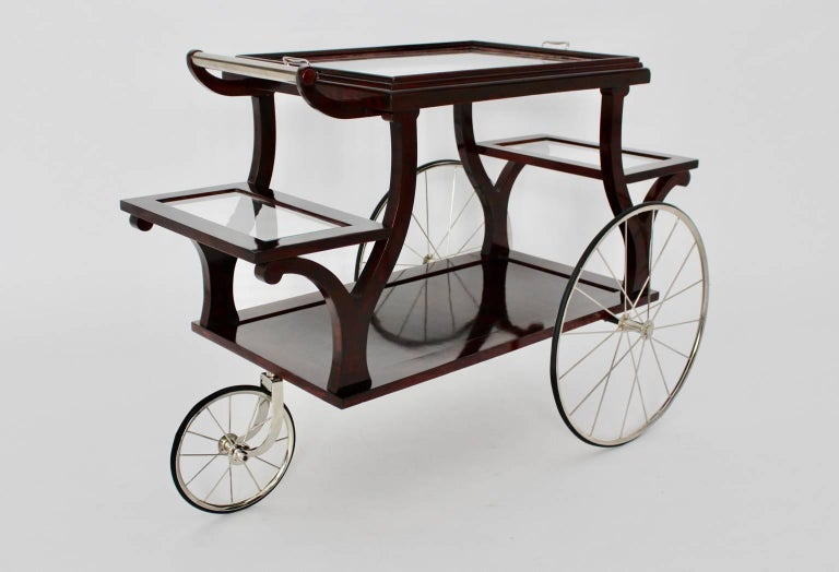 Austrian Jugendstil Bar Cart in the Style of Adolf Loos, circa 1902, Vienna For Sale