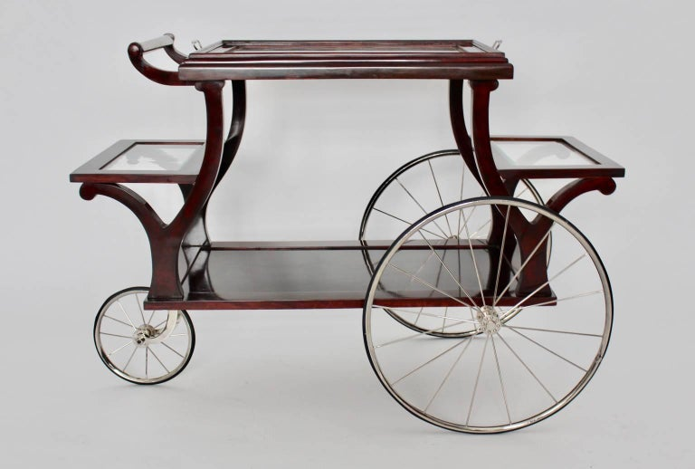 Jugendstil Bar Cart in the Style of Adolf Loos, circa 1902, Vienna In Good Condition For Sale In Vienna, AT