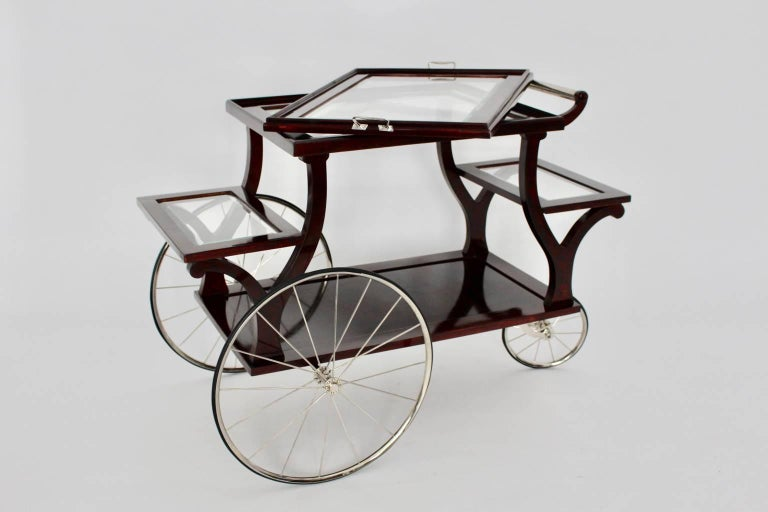 20th Century Jugendstil Bar Cart in the Style of Adolf Loos, circa 1902, Vienna For Sale
