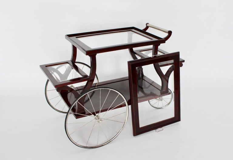 Jugendstil Bar Cart in the Style of Adolf Loos, circa 1902, Vienna For Sale 1