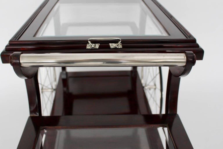 Jugendstil Bar Cart in the Style of Adolf Loos, circa 1902, Vienna For Sale 2