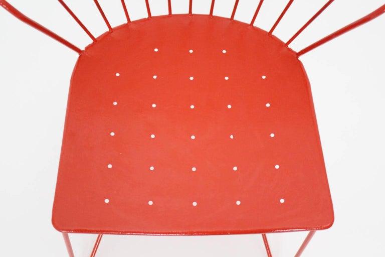 Red Astoria Vintage Side Chair by J.O.Wladar and V. Moedlhammer  Sonett c 1955 For Sale 2