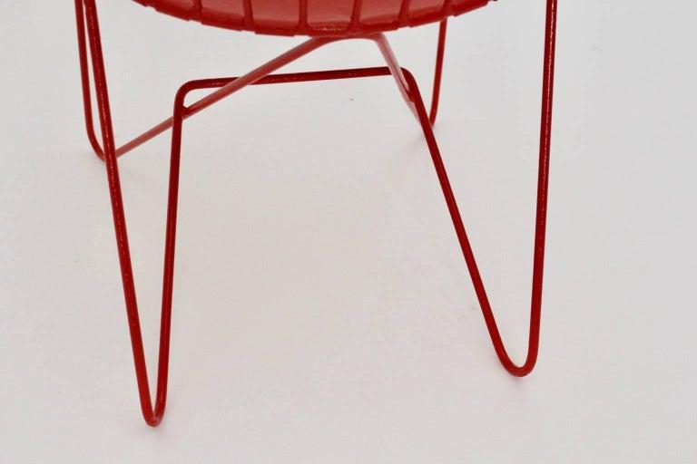 Red Astoria Vintage Side Chair by J.O.Wladar and V. Moedlhammer  Sonett c 1955 For Sale 3