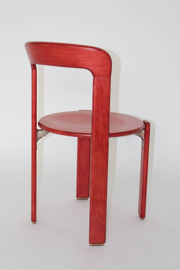 Red Dining Room Chairs By Bruno Rey 1971 Switzerland For