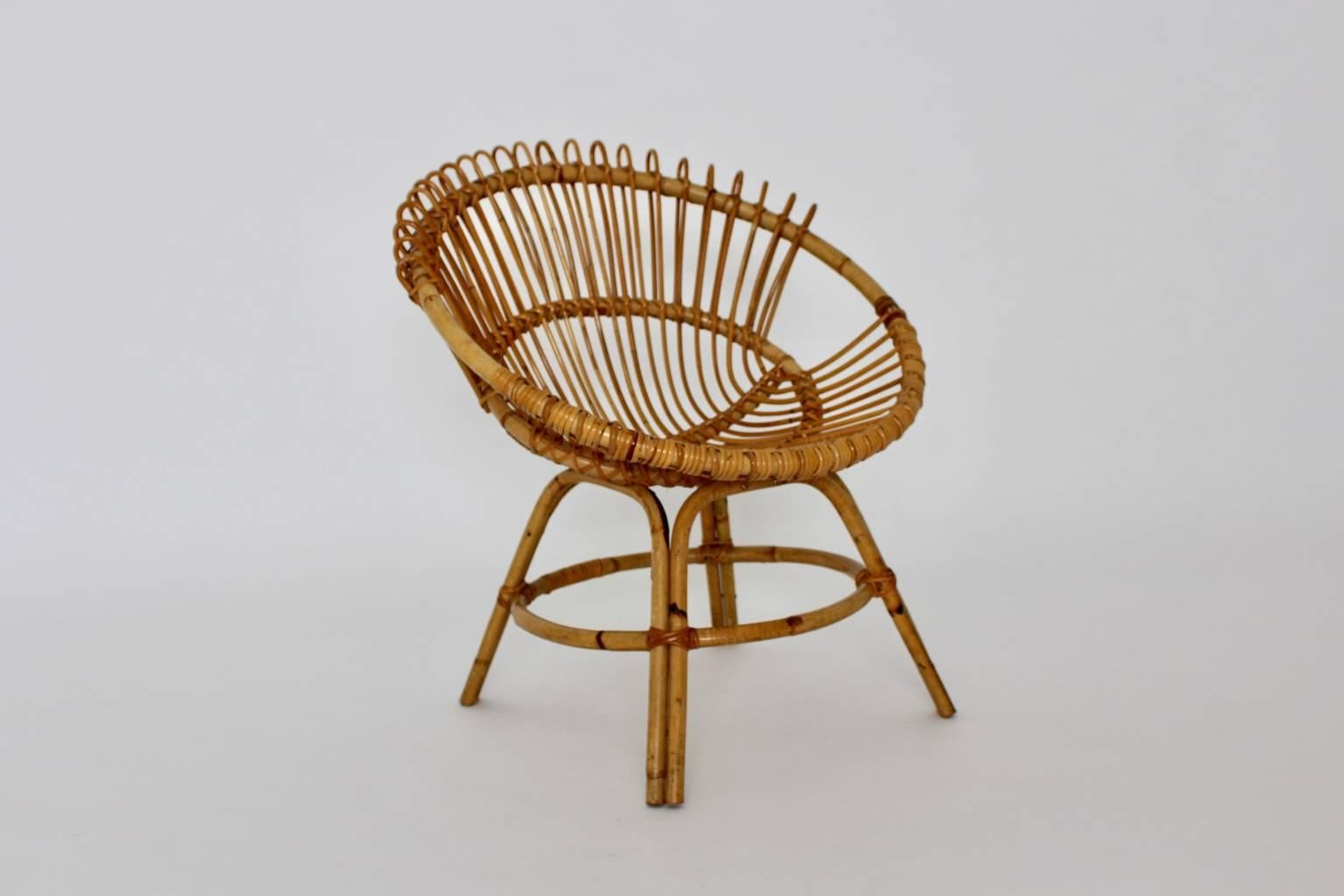 Mid Century Modern Rattan Chair Midcentury By Janine Abraham U0026 Dirk Jan  Rol, France