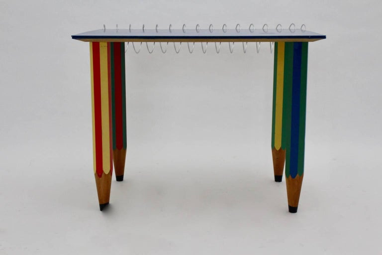 multicolored pop art desk by pierre sala 1983 for sale at 1stdibs. Black Bedroom Furniture Sets. Home Design Ideas