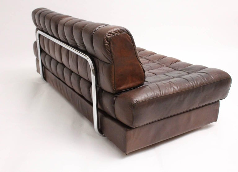De Sede DS 85 Brown Leather Daybed or Sofa 1970s, Switzerland 5