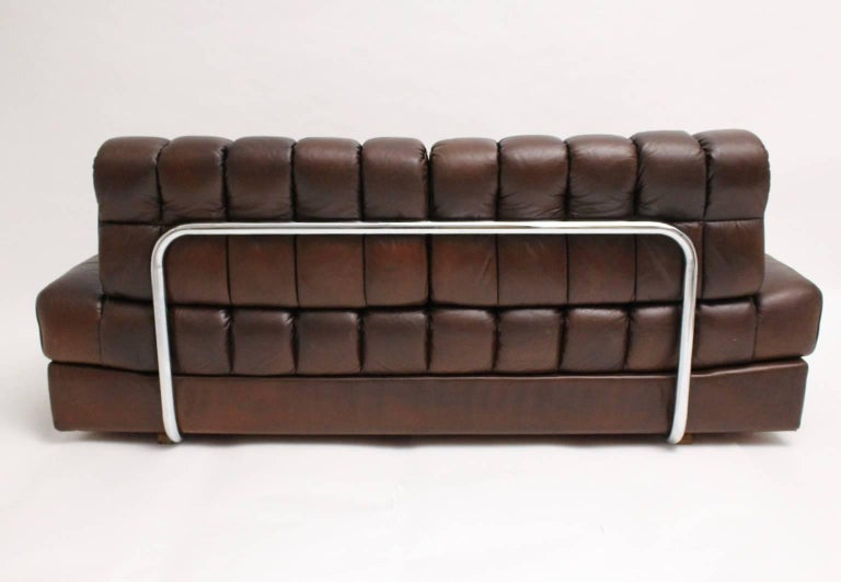 Late 20th Century De Sede DS 85 Brown Leather Daybed or Sofa 1970s, Switzerland For Sale