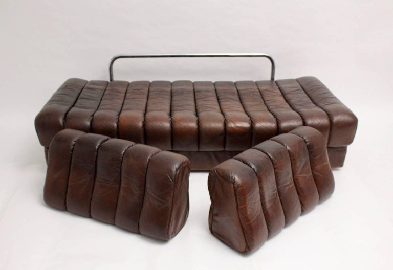 De Sede DS 85 Brown Leather Daybed or Sofa 1970s, Switzerland For Sale 1