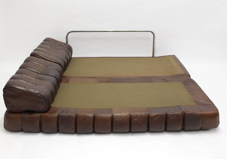 De Sede DS 85 Brown Leather Daybed or Sofa 1970s, Switzerland 8
