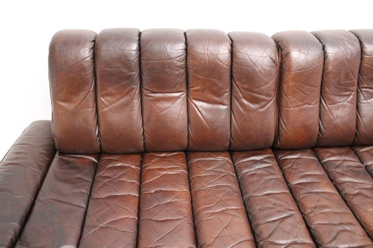 De Sede DS 85 Brown Leather Daybed or Sofa 1970s, Switzerland 9