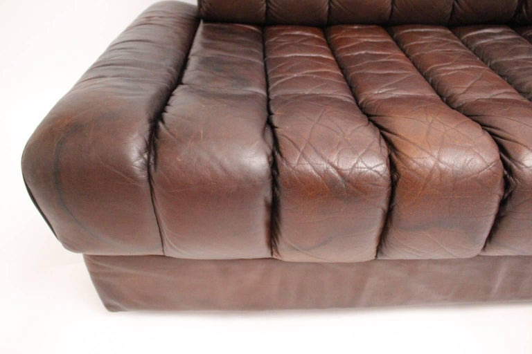 De Sede DS 85 Brown Leather Daybed or Sofa 1970s, Switzerland For Sale 4