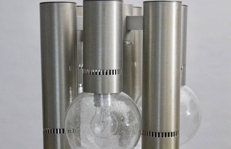 Mid-20th Century Aluminium Flush Mount Mid-Century Modern, 1960s For Sale