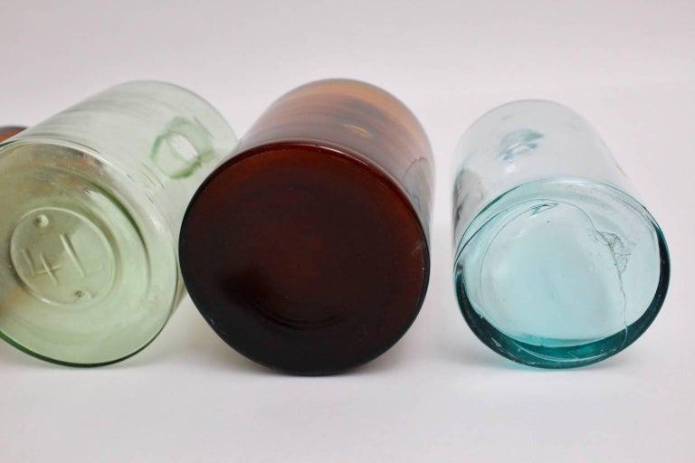 Set of Six Art Deco Bottles 1920s, Austria For Sale 3