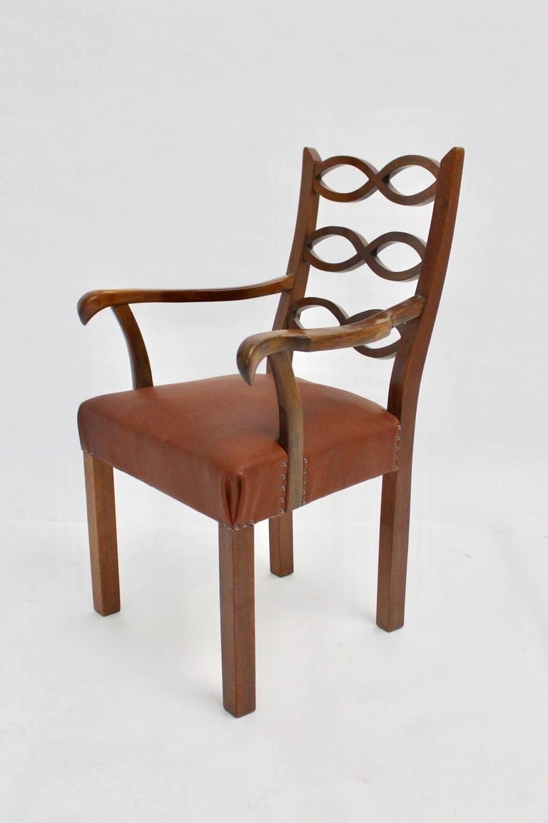 This presented armchair was designed by Hugo Gorge, circa 1920 in Vienna.