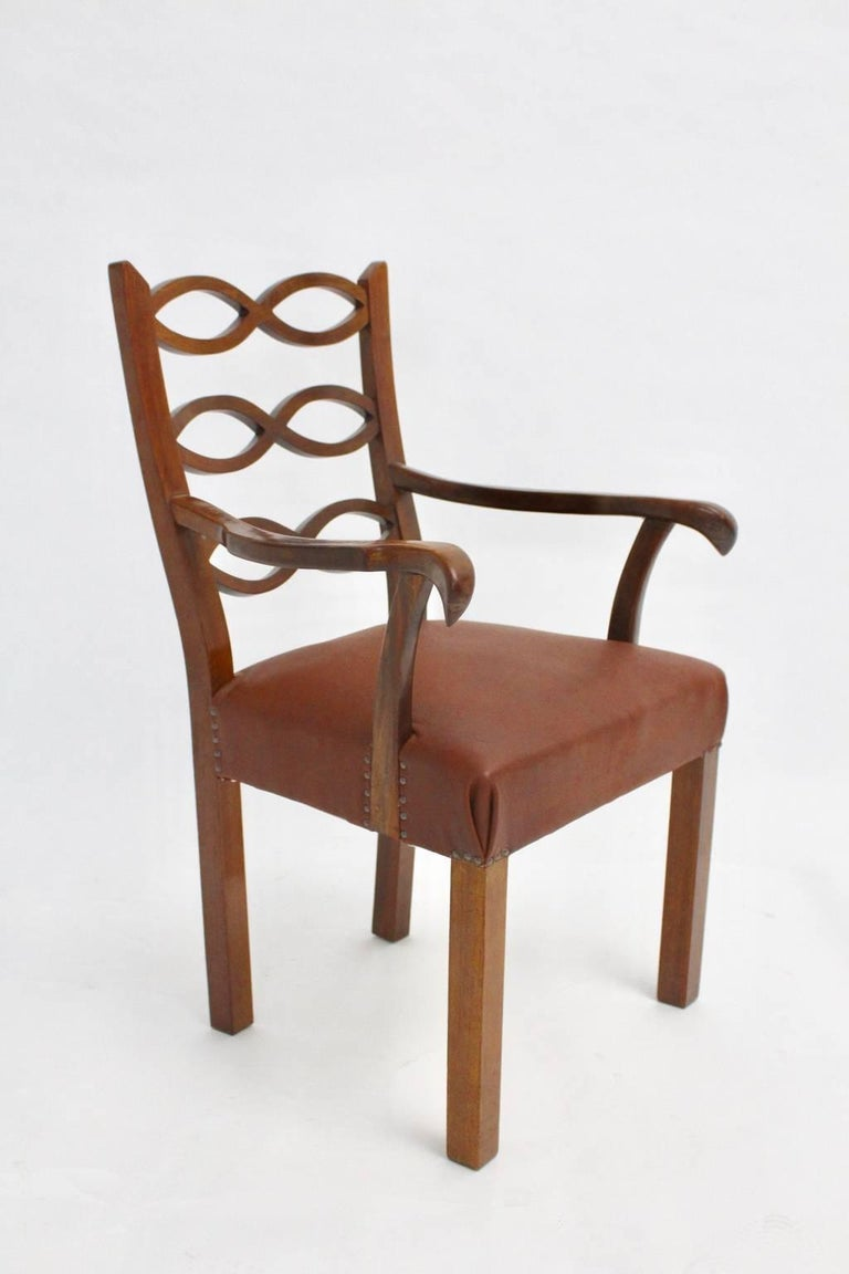 Art Deco Armchair by Hugo Gorge Vienna, circa 1920 In Good Condition For Sale In Vienna, AT