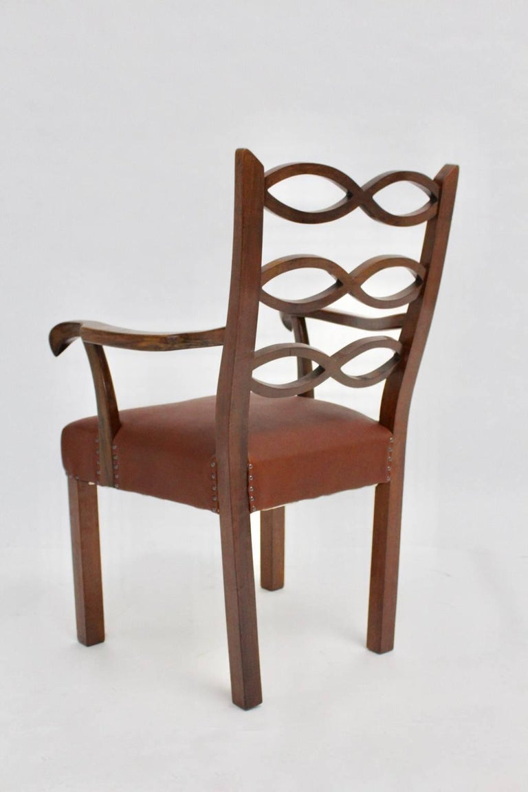 Art Deco Era Armchair by Hugo Gorge Vienna, circa 1920 For Sale 1