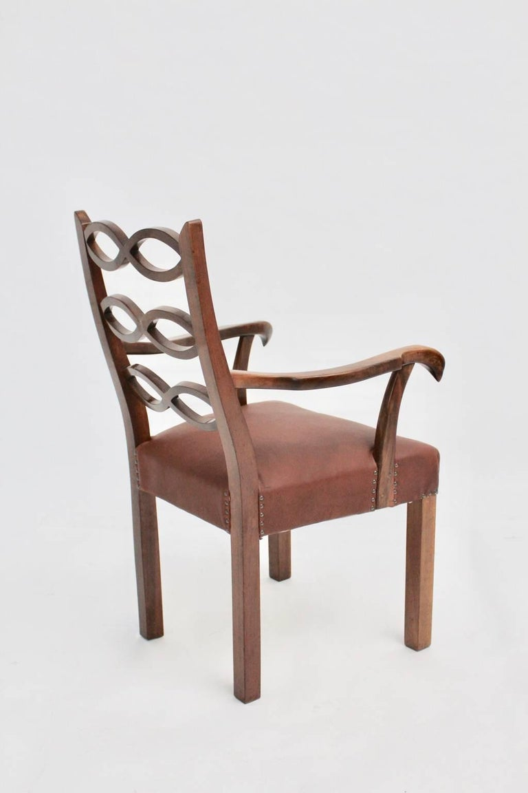 Art Deco Era Armchair by Hugo Gorge Vienna, circa 1920 For Sale 2