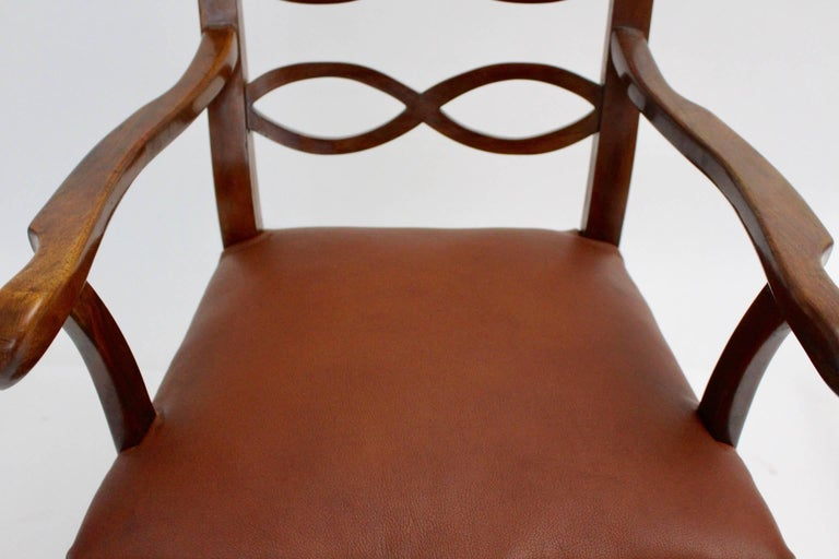 Art Deco Era Armchair by Hugo Gorge Vienna, circa 1920 For Sale 4