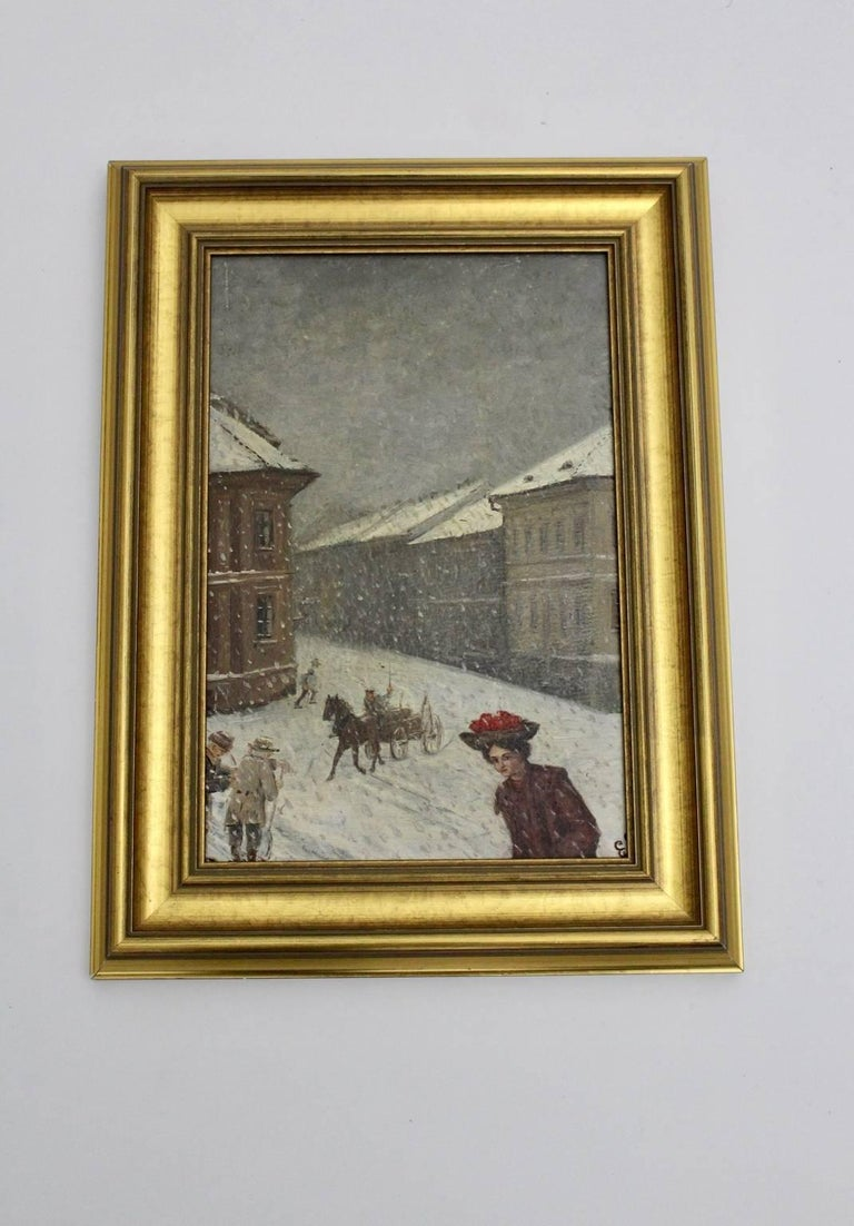 Winter in Vienna by Emil Fiala, 1906 In Good Condition For Sale In Vienna, AT